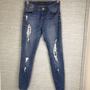 Express Distressed Skinny Jeans Size 0s
